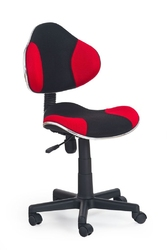 Fotel obrotowy Flash czerwony czarny