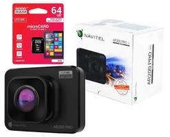 Wideorejestrator kamera navitel ar200 pro 2 fhd+karta 64