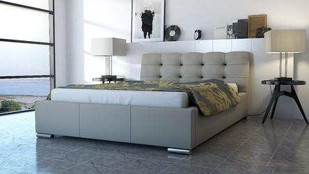 Łóżko nowoczesne tapicerowane tkaniną - duży wybór tkanin - 140 x 200 cm - bed 7