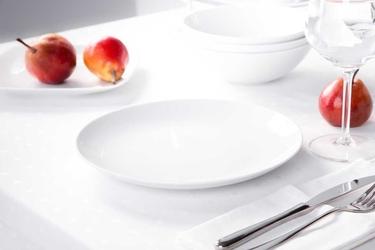 Talerz płytki  obiadowy porcelana mariapaula moderna biała 24 cm okrągły