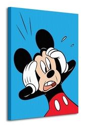 Mickey mouse shocked - obraz na płótnie