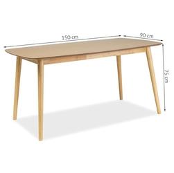 Stół do jadalni michael 150x90 cm dąb