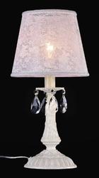 Elegancka lampka stołowa z kryształowymi zawieszkami filomena maytoni classic arm390-00-w