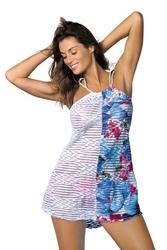 Sukienka plażowa marko jenna oltremare-bianco m-416 4
