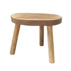 Hk living :: stolik w kształcie pnia drewna l naturalny