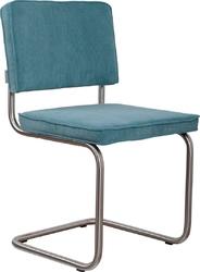Zuiver :: krzesło tapicerowane ridge brushed niebieskie