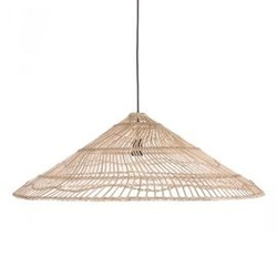 Hk living :: lampa wisząca wiklinowa triangle rozmiar l naturalna