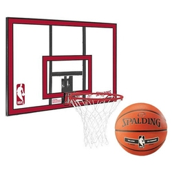 Zestaw tablica do koszykówki spalding nba polycarbonat backboard + piłka spalding nba silver outdoor