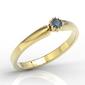 Pierścionek zaręczynowy z żółtego złota z szafirem bp-2110z