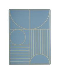 Podkładka pod talerz Outline niebieska
