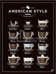 Plakat american style coffee 40 x 50 cm