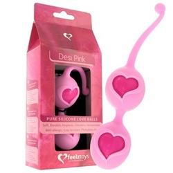 Sexshop - kulki stymulujące z serduszkiem feelz toys - desi love balls pink różowe - online