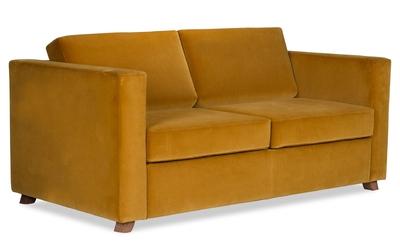 Sofa narcisser z funkcją spania welurowa deluxe - welur łatwozmywalny siena