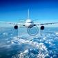 Fototapeta samolot pasażerski na niebie