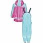 Komplet przeciwdeszczowy spodnie i kurtka turkusowy Playshoes