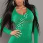 Sweter w kolorze soczystej zieleni z dżetami 028