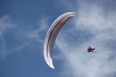 Lot paralotnią - białystok- 15 minut