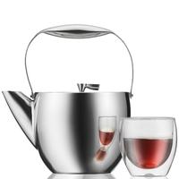 Dzbanek do herbaty - french press bodum columbia 1,5 litra, stal matowa 11496-57