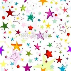 Obraz na płótnie canvas czteroczęściowy tetraptyk wzór labirynt kolorowych gwiazd