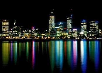 Miasto nocą - fototapeta