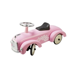 Metalowy jeździk różowe autko retro