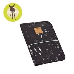 Lassig casual label przewijak podróżny z etui na akcesoria feathers black - feathers black