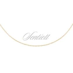 Łańcuszek srebrny pr. 925 loose rope, pozłacany - żółte złoto