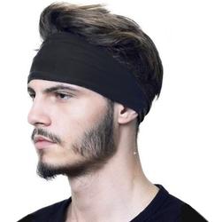 Opaska do włosów szeroka męska sportowa czarna