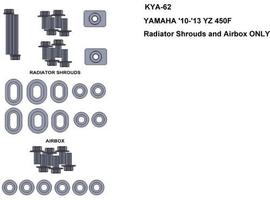 Zestaw śrub keiti do yamaha 10-13 yz450f radiator