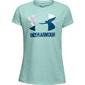 Koszulka dziewczęca under armour solid big logo ss t - niebieski