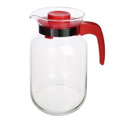 Dzbanek do herbaty, kawy, wody i soku szklany altom design 2 l czerwony