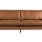 Be pure :: sofa tapicerowana rodeo 2,5-osobowa jasnobrązowa