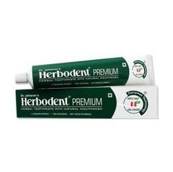 Ziołowa w 100 naturalna pasta do zębów herbodent premium przeciw próchnicy dr. jaikaran - ajurwedyjska receptura 21 ziół