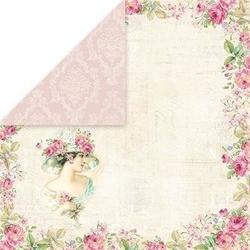 Papier do scrapbookingu 30x30 bellissima rosa 01 - 01