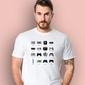 Gamepad evolution t-shirt męski biały l