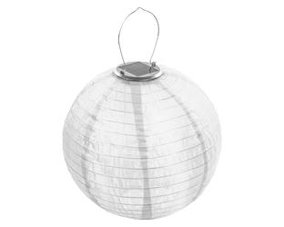Lampion solarny ogrodowy 30cm zewnętrzny biały, lampa solarna joylight