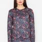 Czarna klasyczna bluza w kolorowe kwiaty