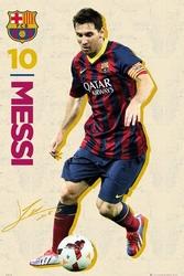 Barcelona leo messi 1314 - plakat