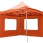 Namiot ogrodowy 3x3 m automatyczny, pomarańczowy pawilon handlowy ze ściankami