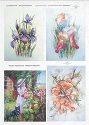 Papier ryżowy ITD A4 R275 kwiaty irysy