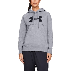 Bluza damska under armour rival fleece sportstyle graphic hoodie - szary