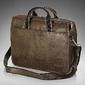 Męska torba na ramię, torba na laptop solier s13 ciemnobrązowa - brązowy