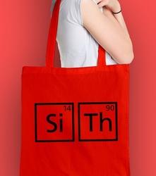 Pierwiastki sith  torba na zakupy czerwona universal