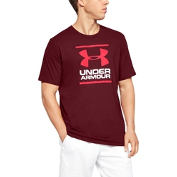 Koszulka męska under armour gl foundation ss t - bordowy