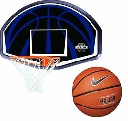 Tablica do koszykówki obręcz Lifetime Dallas 90065 + Piłka do koszykówki Nike Baller 8P