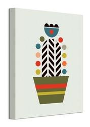 Kolorowy kaktus - obraz na płótnie