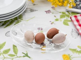 Talerz  półmisek na jajka szklany huta jasło 26 cm