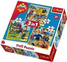 Puzzle fireman strażak sam w akcji 3w1 34844 trefl