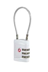Kłódka ze stalową linką na zamek szyfrowy z systemem tsa - alu