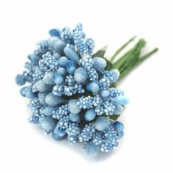 Pręciki do kwiatów ryżyk 12 szt. - niebieski jasny - niebieski jasny